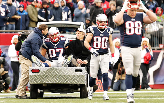 Rob Gronkowski being carted off the field nine months ago.