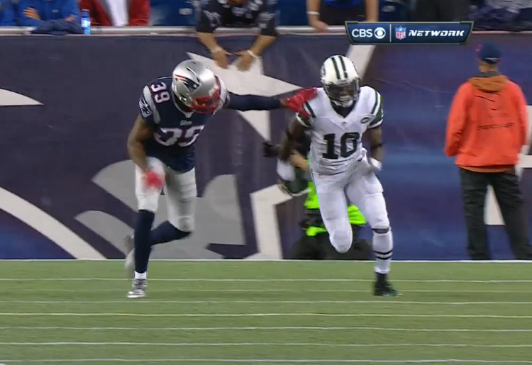 Browner holding penalty broadcast closeup 750