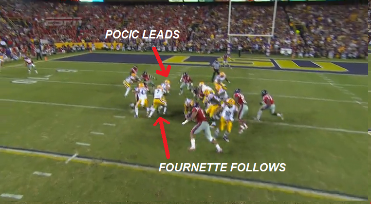 LSU-rush-Fournette-follows