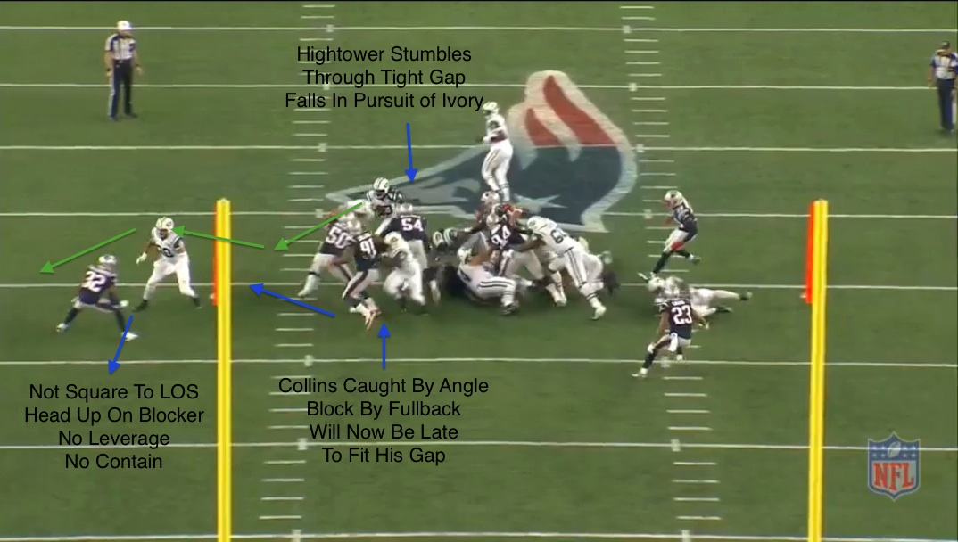 patriots defense v jets nickel collins hightower