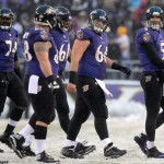 Baltimore-Ravens-Joe-Flacco-Offensive-Line-Snow