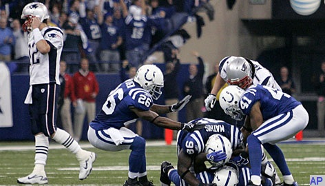 New-England-Patriots-Tom-Brady-Dejected-Indianapolis-Colts-Celebrate-AFC-Championship-2007