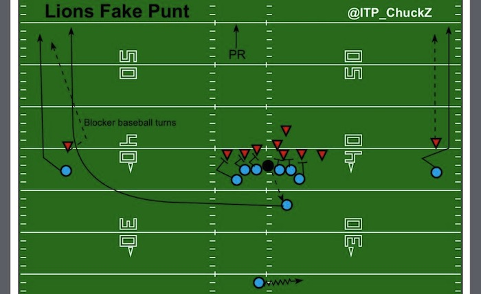 Lions Fake Punt Diagram