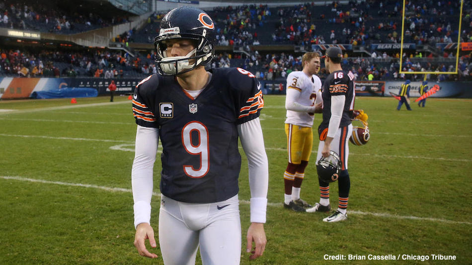 finest selection b2eaf dbc14 Should the Chicago Bears Have Cut Robbie Gould? - Inside The ...