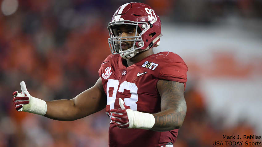 Getting defensive: Redskins tab 'Bama DL Jonathan Allen 17th